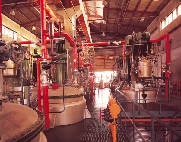 종근당 발효시설(종근당 자료제공). 종근당은 1974년 국내 최대의 발효공장을 준공하고 1980년에 세계4번째로 리팜피신을 개발하였다.