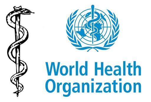 세계보건기구 표식과 아스클레피오스의 지팡이