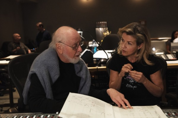 음반작업중인 존 윌리엄스와 안네 소피 무터