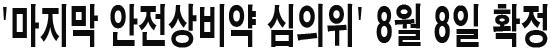 '마지막 안전상비약 심의위' 8월 8일 확정