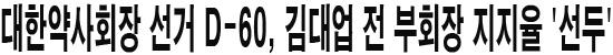 대한약사회장 선거 D-60, 김대업 전 부회장 지지율 '선두'