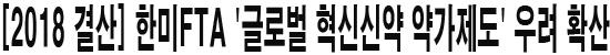[2018 결산] 한미FTA '글로벌 혁신신약 약가제도' 우려 확산