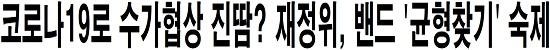 코로나19로 수가협상 진땀? 재정위, 밴드 '균형찾기' 숙제