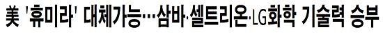 美 '휴미라' 대체가능…삼바·셀트리온·LG화학 기술력 승부
